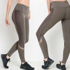MONO B Brown Moto Leggings Motto Yoga Pants # 5